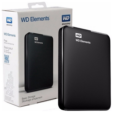 "HDD EXTERNE 2.5"" 1 To WESTERN DIGITAL Elements USB 3 - Noir - Taxe Sorecop Incluse (Garantie 2 Ans Constructeur)"