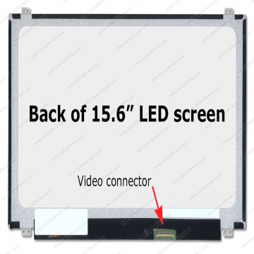 "DALLE 15.6"" LED SLIM - Connecteur 40 PINS Bas Droite - Resolution 1366 x 768 Pixels - Fix HB Brillante - Bris d'ecran non inclus"
