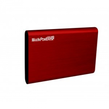 "BOITIER EXTERNE 2.5"" HEDEN - USB 3.0 - Aluminium Brosse - Rouge"