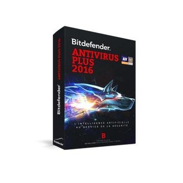 BITDEFENDER Antivirus 2016 - Licence compatible v.2018 - 1an 1 Poste -OEM