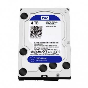 "HDD 4 To 3.5"" SATA - Western Digital - BLUE - Vitesse de Rotation 5400 Rpm - Cache Mémoire 64 Mo"