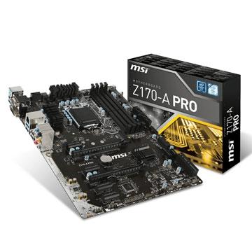 CM1151 Msi Z170-A-PRO Atx  Usb 3.1 DDR4
