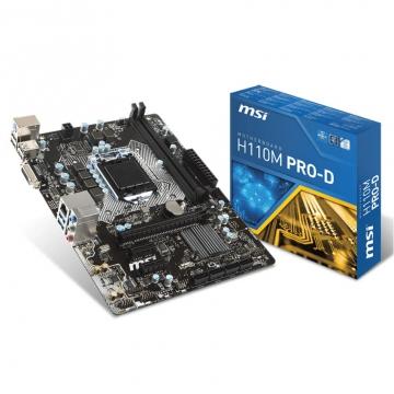 CM1151 Msi H110M Pro-D Matx 2DDR4 / Usb 3.1 / 4 sata Dvi
