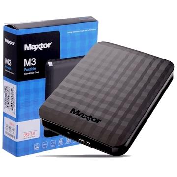 "HDD EXTERNE 2.5"" 1 To MAXTOR M3 USB 3.0 - Noir - Taxe Sorecop Incluse (Garantie 3 Ans Constructeur)"