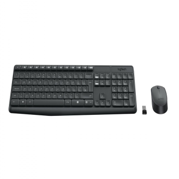 PACK CLAVIER+SOURIS LOGITECH MK235 Wireless - Gris