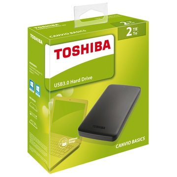 "HDD EXTERNE 2.5"" 2 To TOSHIBA Canvio Basics USB 3.0 - Noir - Taxe Sorecop Incluse"