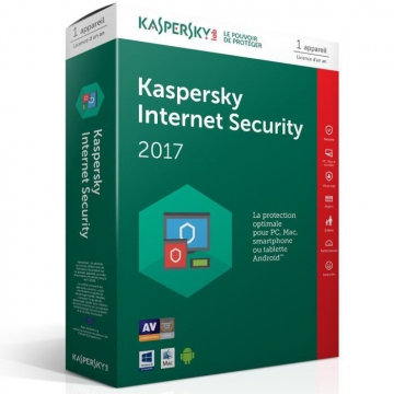 KASPERSKY INTERNET SECURITY 2017 - 1 an / 1 Poste