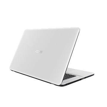 PORTABLE Asus 17.3 Pouces - Blanc - Intel Pentium N3710 - Quad Core à 1.6 GHz - Disque 1To de 5400 tours/min - 4Go de mémoire en DDR3 à 1600 MHz  - Intel HD Graphics 405 - Graveur DVD - Wifi 802.11b/g/n - Bluetooth 4.0 - 2 ports USB 2