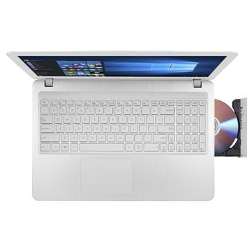 """PORTABLE Asus 15.6 pouces - Blanc - 15,6"""" HD,INTEL PENTIUM N3710, 4GO DDR3, HDD 1TO, DVD RW/ SUPERMULTI DL,INTEL HD GRAPHICS, BATTERIES 2 CELLS,WEBCAM VGA, LECTEUR SD,CLAVIER CHICKLET,1*HDMI, 1*USB3.1 TYPE C, 1*USB3.0,WINDOWS 10,GARANTIE 2 ANS, AVEC"""