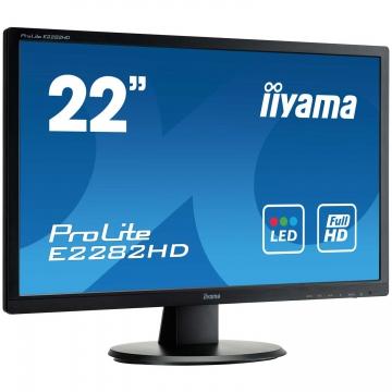 MONITEUR 22 Pouces IIYAMA - Réponse Time 5MS - 1 Port VGA - 1 Port  DVI - Dalle TFT Led - Full HD 1920 x 1080 à 60 Hz - Garantie 1 ans sur site