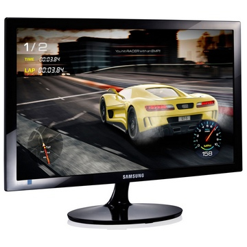 "MONITEUR 24"" - SAMSUNG - Dalle TFT TN LED - FullHD 1920 x 1080 à 60 Hz - 16:9 - 1 ms - 16,70 Millions de Couleurs - Luminosité 250 cd/m² -  Contraste 1000:1 - Surface Visible 24"" (61cm) - 1 Port VGA / HDMI - Garantie 2 Ans sur"