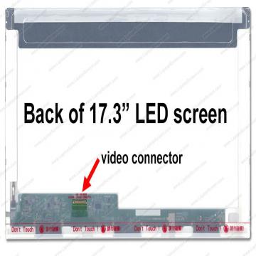 """DALLE 17.3"""" LED - Connecteur EDP 30 PINS Bas Gauche -  Resolution 1600 x 900 Pixels - Fix HB Brillante - Bris d'ecran non inclus"""