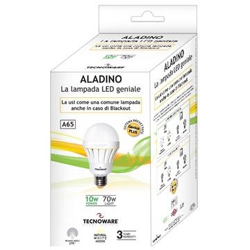 AMPOULE LED TECNOWARE A65 E27 10W = 70W 4000K BLANC NATUREL - ANGLE 270° - 30.0000 HEURES - GARANTIE 3 ANS