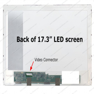 "DALLE 17.3"" LED - Connecteur 40 PINS Bas Gauche - Resolution 1600 x 900 Pixels -  Dalles Brillante - Bris d'ecran non inclus"
