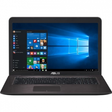 "PORTABLE Asus 17.3"" - Marron Foncé - Intel Core i3 6006U à 2.0 GHz - Disque 1To de 5400 tours/min - 4Go de mémoire en DDR4 -  Carte graphique Nvidia GeForce 920MX 2Go en DDR5 - Wifi 802.11n - Bluetooth 4.0 - 2 Ports USB 2.0 - 2 P"