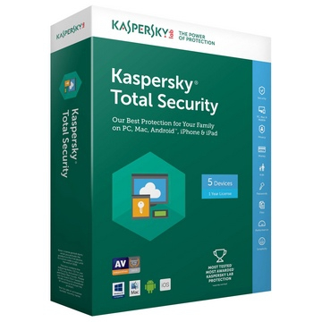 KASPERSKY TOTAL SECURITY 2018 - MULTI DEVICES - 1 An / 5 Postes