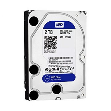 "HDD 2 To 3.5"" SATA - Western Digital BLUE - Vitesse de Rotation 5400 Rpm - Cache Mémoire 64 Mo"