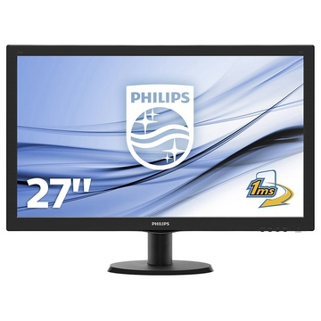 "MONITEUR 27"" - PHILIPS - Dalle TFT TN W-LED - FullHD 1920 x 1080 à 60 Hz - 16:9 - 5 ms - 1 Port VGA / DVI-D / HDMI - Garantie 2 Ans sur site"