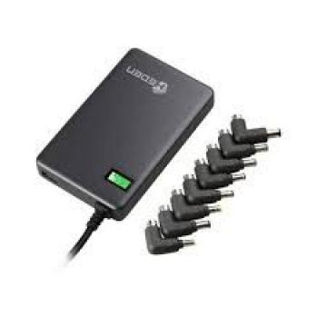 CHARGEUR UNIVERSEL Heden 90W Format slim , 1 port USB intégré  8 fiches inclus noir 0-PSMIP504NB = fin de vie remplacé par 0-CHAPC90W
