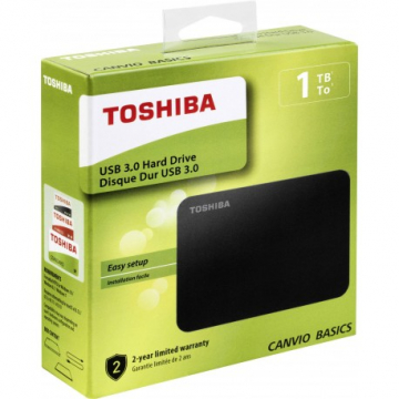 "HDD EXTERNE 2,5"" 1 To TOSHIBA Canvio Basics USB 3.0 Taxe sorecop incluse"