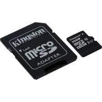 MICRO SD HC KINGSTON 64 Go - CL10 + ADAPT. SD - Taxe Sorecop Incluse