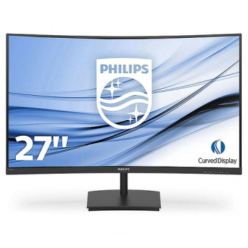 "MONITEUR 27"" incurvé Philips 16:9/1920x1080/ 250cd/m²/ 4ms/3000:1 VGA/HDMI - HP 2x3W - Incl Garantie 2 ans sur site"