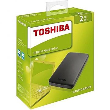 "HDD EXTERNE 2,5"" 2 To TOSHIBA Canvio Basics USB 3.0 Taxe sorecop incluse"