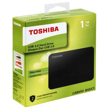 "HDD EXTERNE 2,5"" 1 To TOSHIBA Canvio Basics USB 3.0 Taxe sorecop incluse"