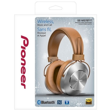 CASQUE BLUETOOTH PIONEER SE-MS7BT - Hi-RES - BRUN