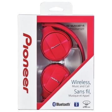 CASQUE BLUETOOTH PIONEER STEREO - BT 3.0 avec codec AAC • NFC • Fonction Control & Talk • HP 40mm • Autonomie 15h •  Casque pliable • ordon USB fourni - ROUGE