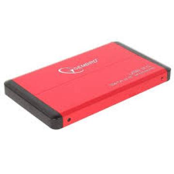 BOITIER EXTERNE GEMBIRD USB 3.0 ALU Rouge
