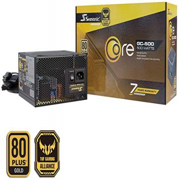 ALIMENTATION Seasonic CORE GOLD GC 500 500W Standard ATX 12V - 80 PLUS Gold - CORE-GC-500