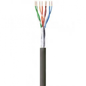 CABLE RJ45  Cat. 5e - CCA - F/UTP - PVC - Monobrin AWG24 - Gris - 305 m
