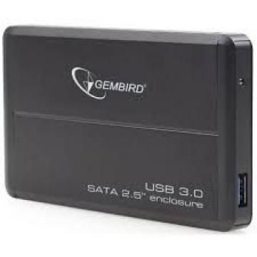 BOITIER EXTERNE GEMBIRD USB 3.0 ALU Noir