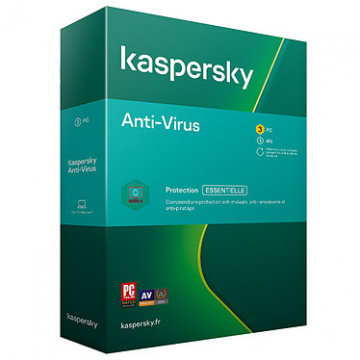 KASPERSKY Anti-Virus 2020 Boite (3 postes - 1 an)