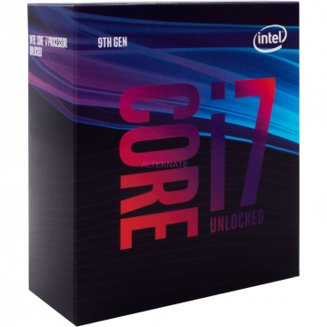 INTEL Processeur S1151 - I7 9700K BOX COFFEE LAKE R - 8 Coeurs de 3.60 GHz à 4.90 GHz avec 12 Mo de cache - 95 Watts