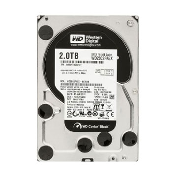 HDD 2 To Western Digital 3.5 SATA CAVIAR BLACK 64MB