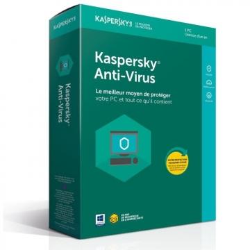 KASPERSKY ANTIVIRUS 2019 - 1 An / 1 Poste