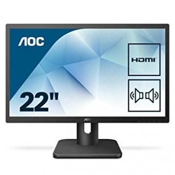 MONITEUR 21.5 FHD AOC 22E1D 16.9 TN 1920x1080/250cd/m2/2ms/1000:1 VGA/HDMI/DVI - Dalle mate - Haut Parleur  2x2W Garantie 3 ans