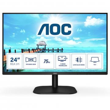"""MONITEUR 24"""" AOC Full HD IPS HDMI VGA HDMI Garantie limitée - 3 ans"""
