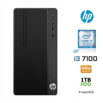 UNITE CENTRALE HP 280 Microtour Pro i3-7100 1 TB 4 GB Freedos / clavier azerty