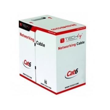 CABLE RJ45 Cat. 6 - CCA - S/FTP PIMF - PVC - Monobrin AWG24 - Gris - 305 m
