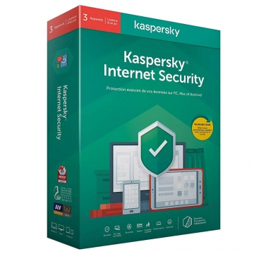 KASPERSKY Internet Security 2020 Boite (3 p/1 an) MAC/PC