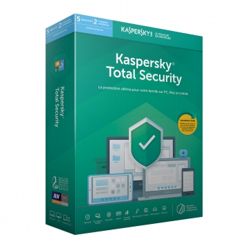 KASPERSKY Total Security 2020 Boite (5 p/1 an) MAC/PC