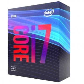INTEL Processeur S1151 - I7 9700F BOX COFFEE LAKE R - 8 Coeurs de 3.60 GHz à 4.90 GHz avec 12 Mo de cache - 95 Watts