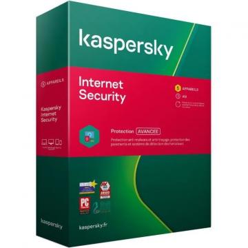 KASPERSKY Internet Security 2020 Boite (5 p/1 an) MAC/PC