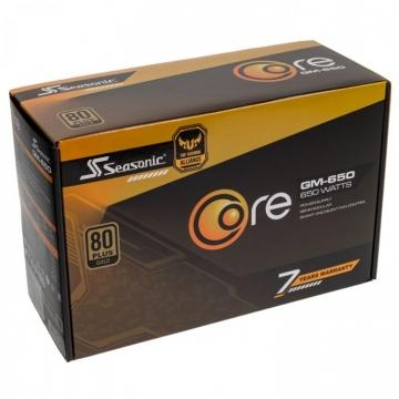 Alimentation Seasonic 650 W CORE GOLD GM 650 - Modulaire ATX 12V - 80 PLUS Gold - CORE-GM-650