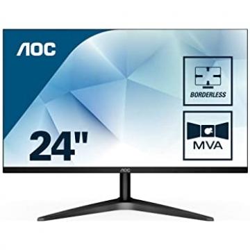 """MONITEUR 24"""" AOC 24B1H 16:9 1920x1080/250cd/m2/8ms/3000:1 VGA/HDMI - Incl Garantie 3 ans"""