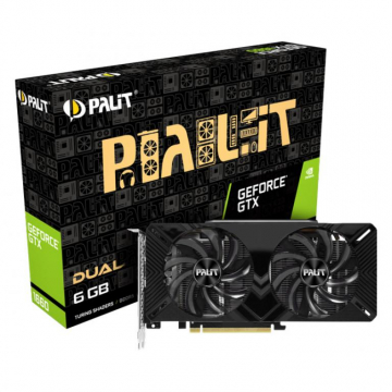 CV Palit GeForce GTX 1660 Dual 6GB GDDR5, 192bit, DVI-D x2, DP1.4a x1, HDMI2.0b x1