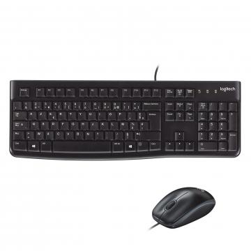 PACK CLAVIER+SOURIS LOGITECH MK120 Filaire - Noir